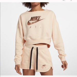 NWT Nike Air Pink Cropped Crewneck Sweatshirt